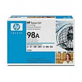 Cartridge HP 92298A, Type 98A, LaserJet 4, Black, max yield 6 800 copies, ORIGINAL