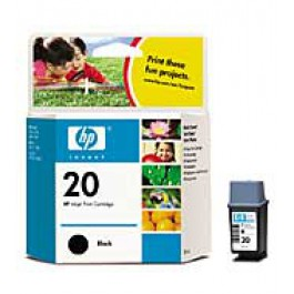Ink Cartridge HP C6614DE, Type 20, Apollo P2100, Black, max yield 504 copies, ORIGINAL, SUPER PRICE (valid until stock limit), damaged box/old box design