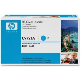 Cartridge HP C9721A, Type 21A, Color LaserJet 4600, Cyan, max yield 8000 copies, ORIGINAL
