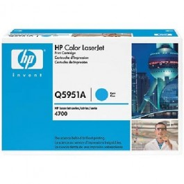 Cartridge HP Type Q5951A, Color LaserJet 4700, Cyan, max yield 10000 copies, ORIGINAL