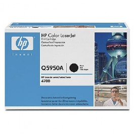 Cartridge HP Type Q5950A, Color LaserJet 4700, Black, max yield 11000 copies, ORIGINAL